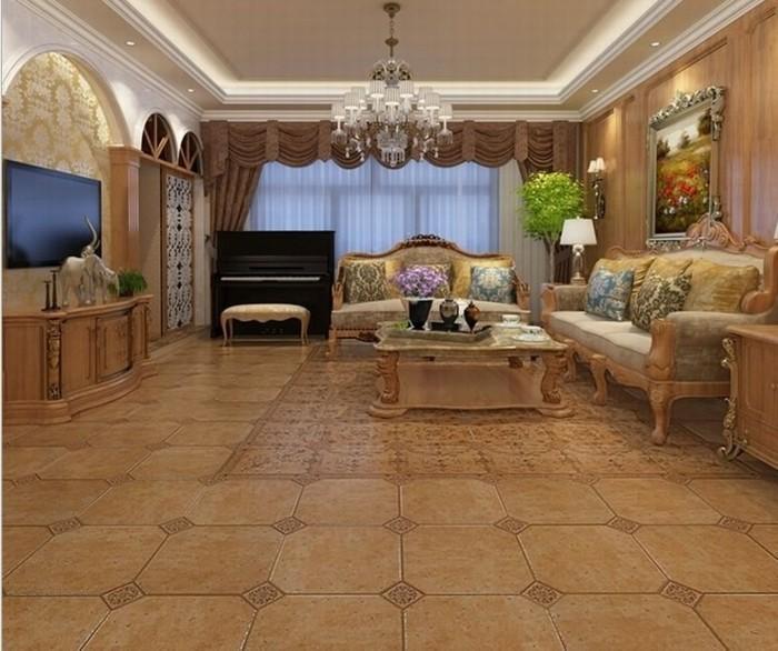 Fliesen-im-Wohnzimmer-im-Stil-von-Barock