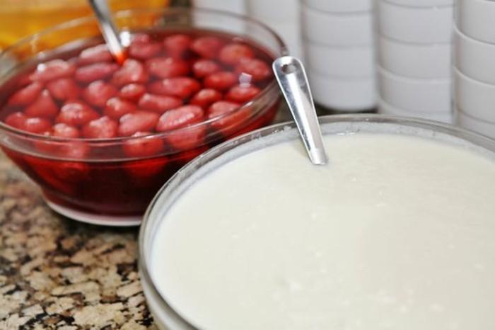 Bulgarischer-Joghurt-und-Erdbeeren-dabei