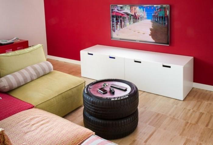 DIY-Möbel-aus-Autoreife-couchtisch-wohnzimmer