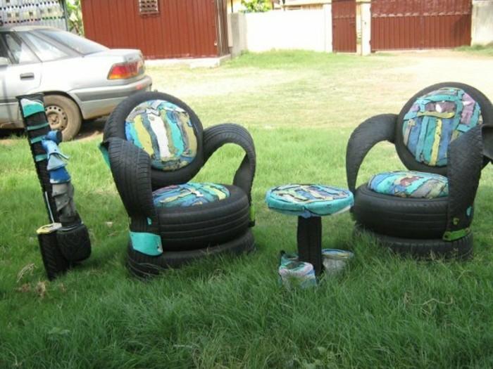 DIY-Möbel-aus-Autoreifen-autoreifen-recycling-türkis-bemalt-reste