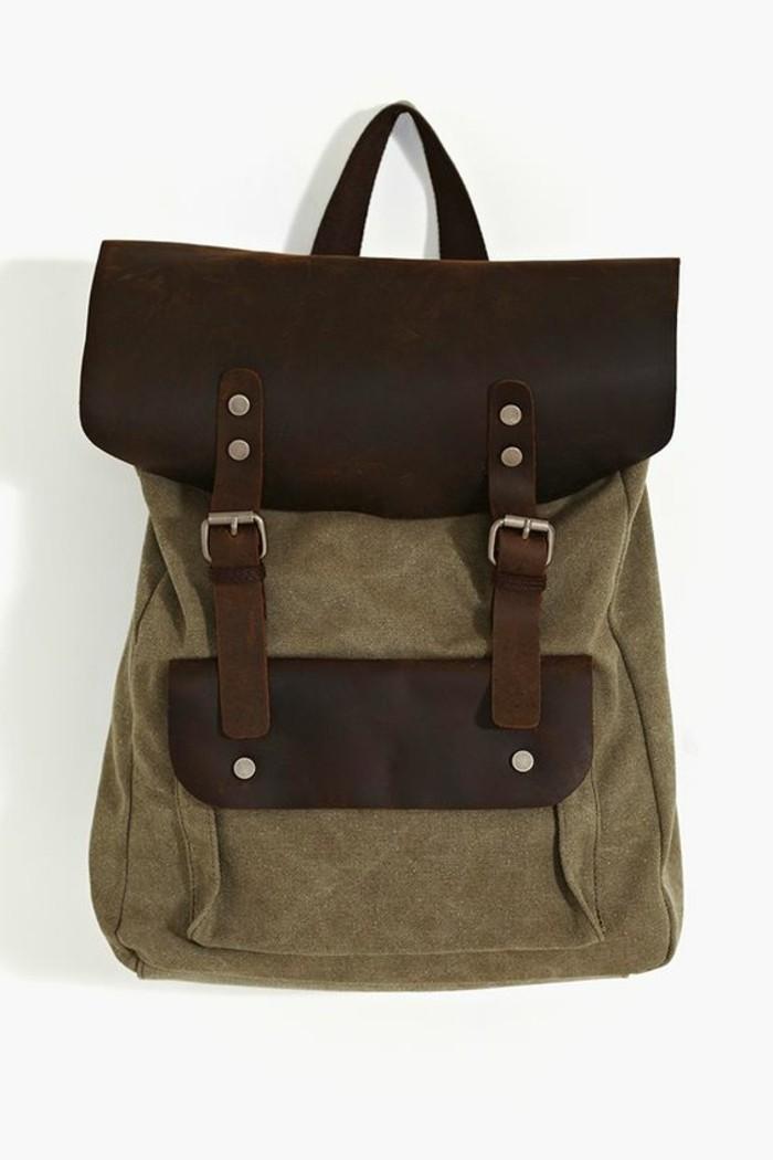 Damen-vintage-Rucksack-mit-zwei-Schnallen