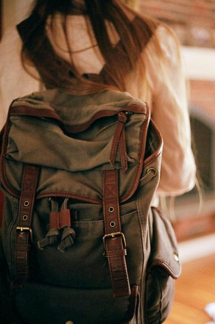 Damen-vintage-Rucksack-sehr-handlich