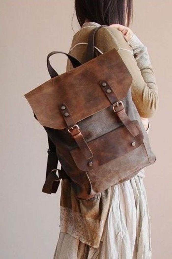 Vintage Rucksack Ein Handliches Accessoire