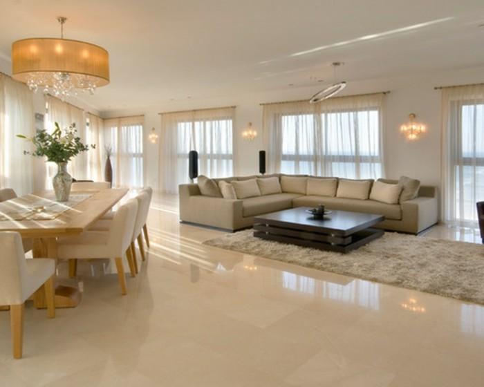 Fliesen Im Wohnzimmer Elegante Bodenbelage