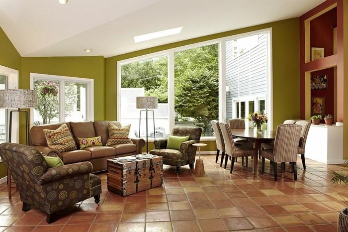 Fliesen-im-Wohnzimmer-in-vintage-Stil