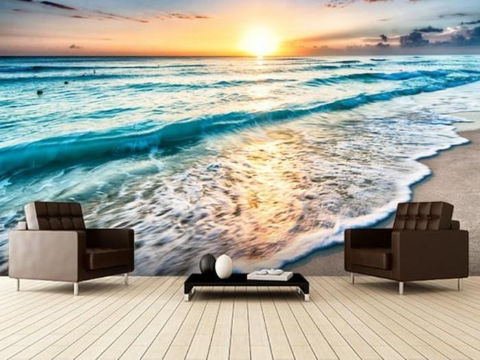 Fototapete-Strand-mit-viel-Meerschaum