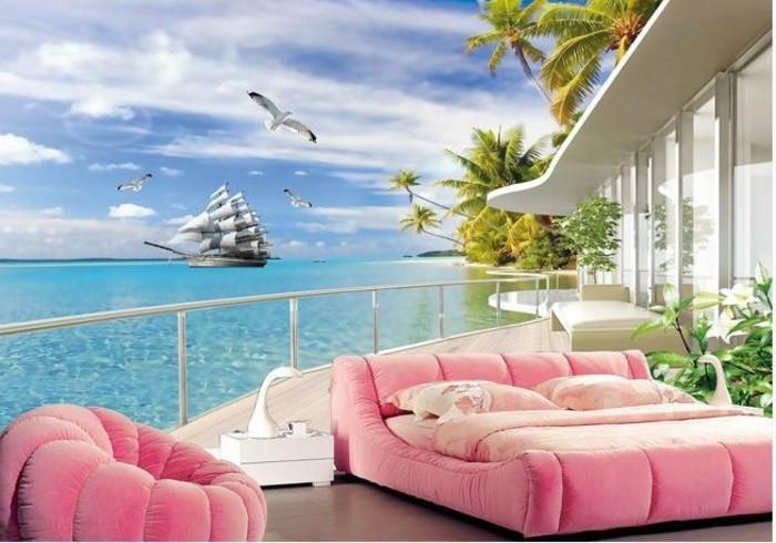 Fototapete schlafzimmer meer  40 einmalige Fototapete Strand - immer ist es Sommer! - Archzine.net