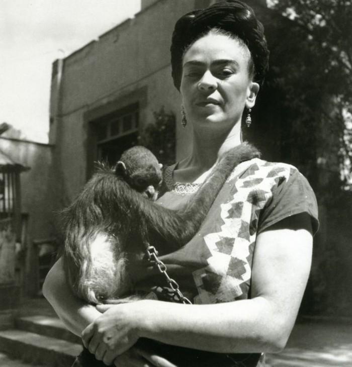 Frida-Khlo-exotische-Haustiere-Affe1