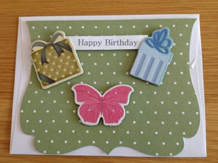Glückwunschkarten-erstellen-die-Schmetterlinge-und-Geschenke