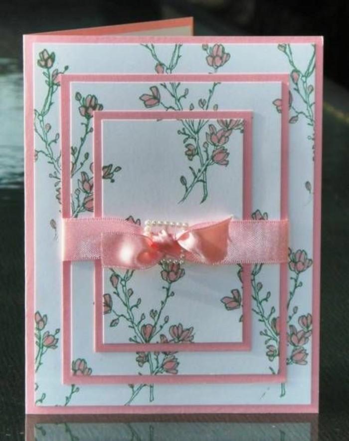 Glückwunschkarten-mit-einer-rosa-Band