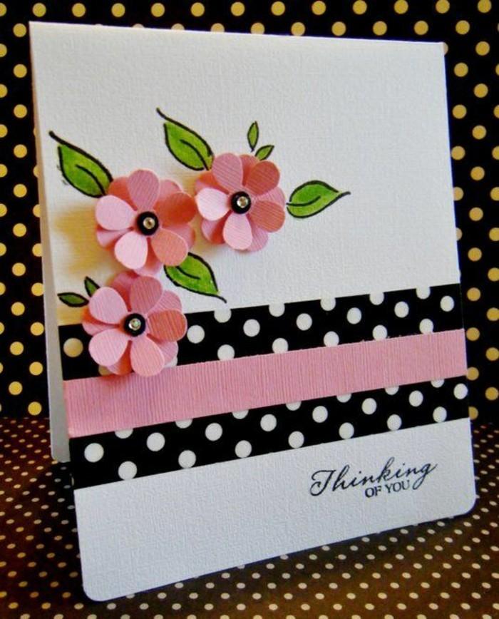 Glückwunschkarten-mit-gebastelten-rosa-Blumen