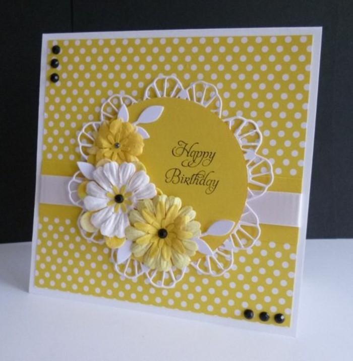 Glückwunschkarten-zum-Geburtstag-in-gelber-Farbe