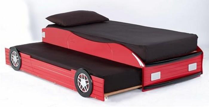 Jugendbett-mit-Gästebett-wie-rotes-Auto