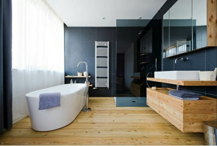 Großes Bad waschtisch aus holz für mehr gemütlichkeit im bad archzine