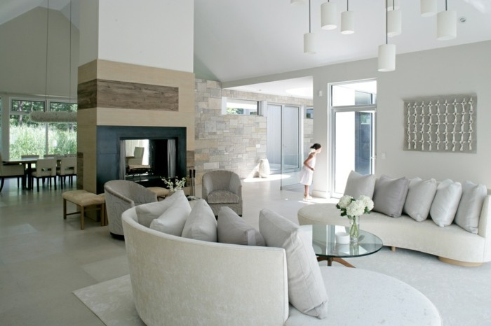 Moderne-Bodenbeläge-Wohzimmer-und-Esszimmer-zusammen