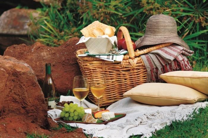Picknick-im-Freien-mit-Sekt