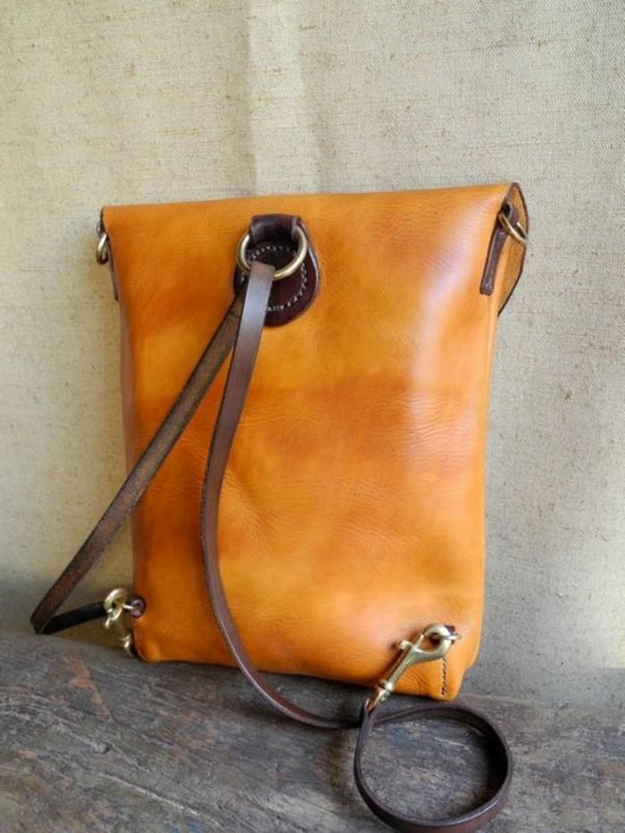 Rucksack-für-Frauen-in-oranger-Farbe