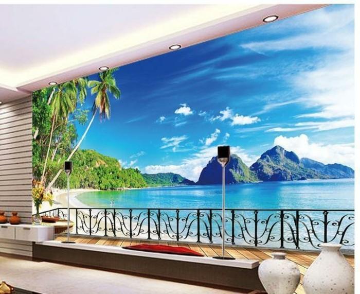Strand-Fototapete-wie-auf-dem-Balkon