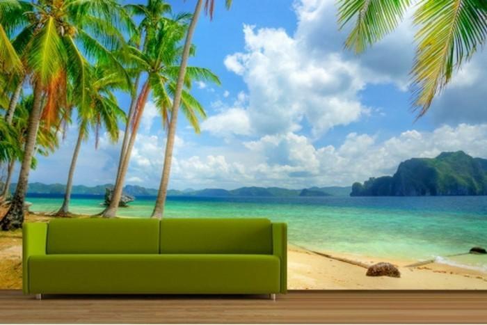 Strand-Tapete-ein-tropische-Landschaft