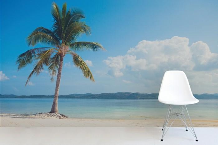 Tapete-Strand-eine-einsame-Insel