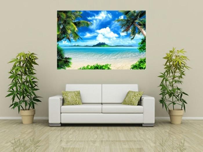 Tapete-Strand-von-Pflanzen-umgeben