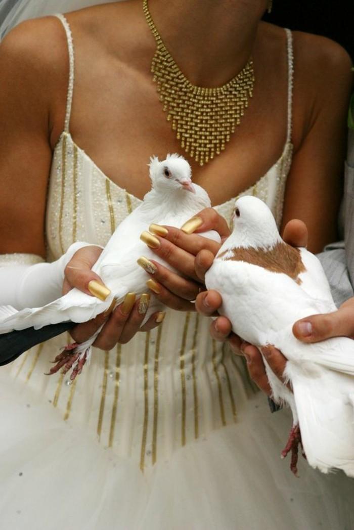 Tauben-für-Hochzeit-sehen-sich-einander