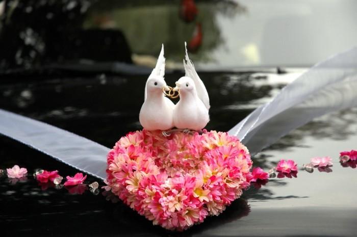 Tauben-zur-Hochzeit-auf-ein-Herzen