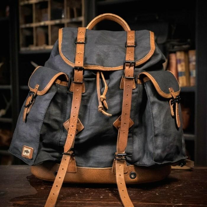 Vintage-Rucksack-mit-Zwei-Taschen