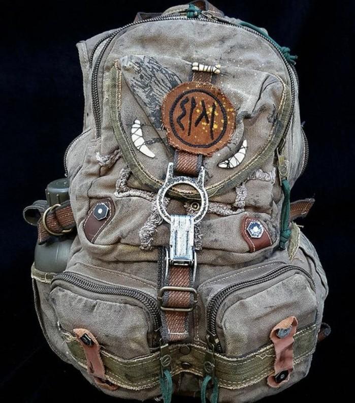 Vintage-Rucksack-sehr-alt-aussehend