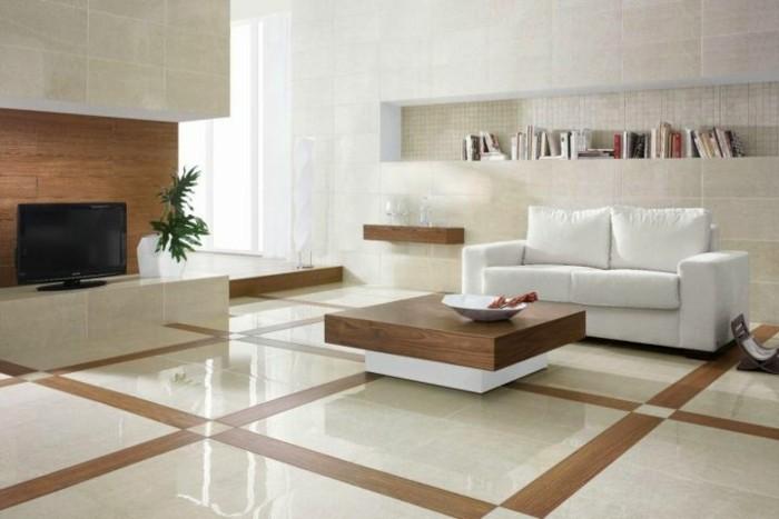 Fliesen Im Wohnzimmer Elegante Bodenbeläge Archzinenet - Wandfliesen wohnzimmer