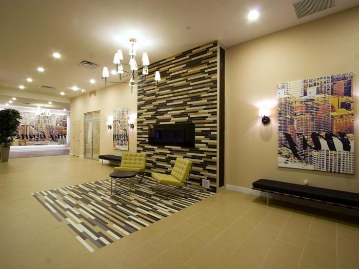 Charmant Wandfliesen Wohnzimmer Mit Einem Akzent