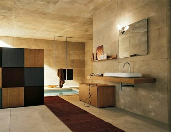 Waschbecken-auf-Holzplatte-wandschrank-badezimmer-brücke