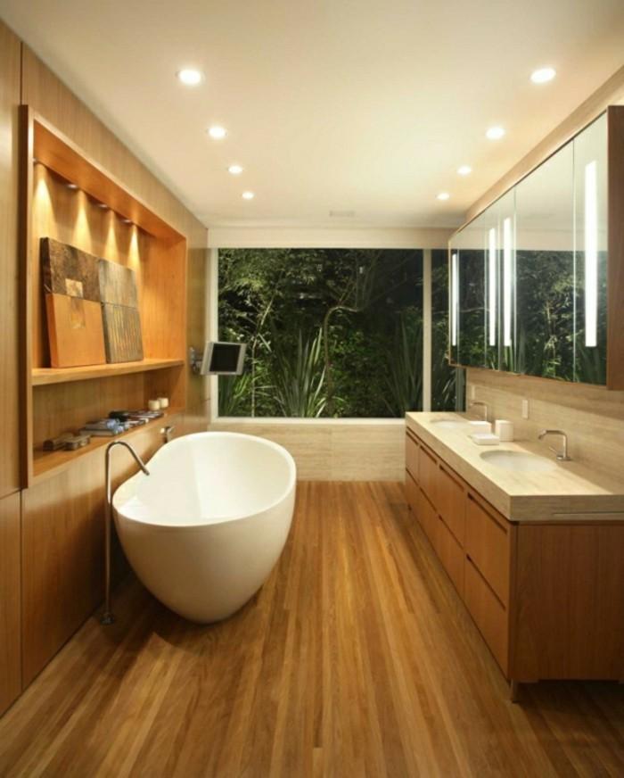 Waschtisch aus holz f r mehr gem tlichkeit im bad for Badezimmer doppelwaschbecken mit unterschrank