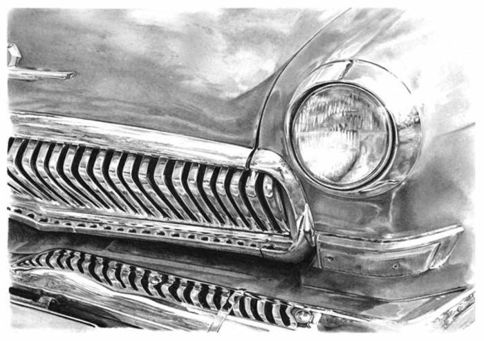 Zeichnen-lernen-mit-Bleistift-ein-Auto