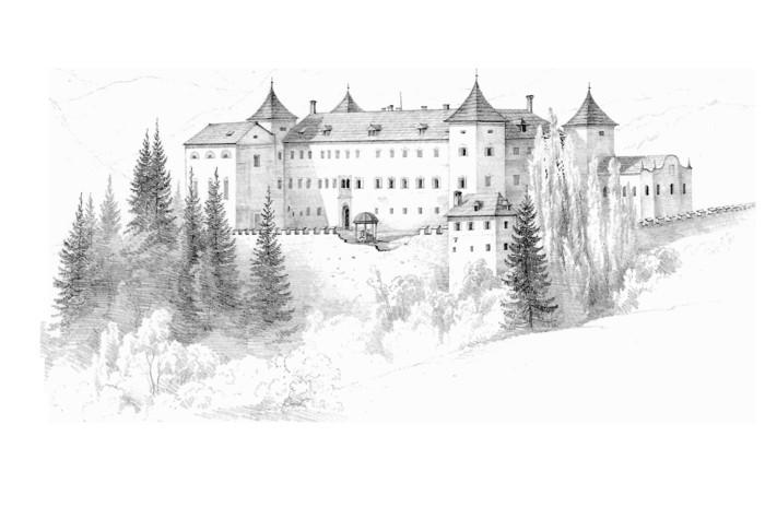 Zeichnen-lernen-mit-Bleistift-ein-Schloss
