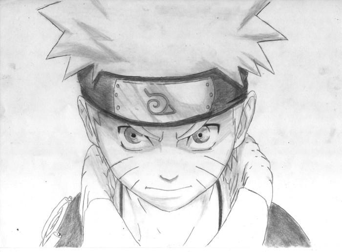Zeichnen-lernen-mit-Bleistift-mit-Naruto