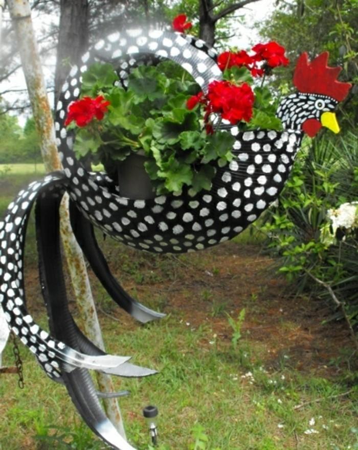 altreifen-recycling-originelle-gartengestaltung-sehr-schöne-diy-deko