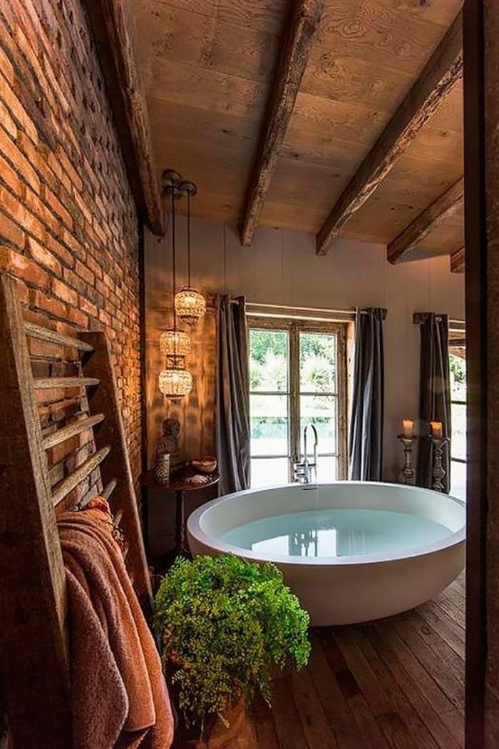 Ausgefallene designideen f r ein landhaus badezimmer for Rustikale einrichtung