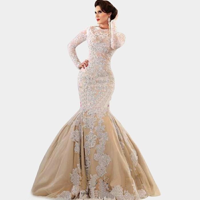 champagne-brautkleider-weißer-hintergrund-elegantes-aussehen