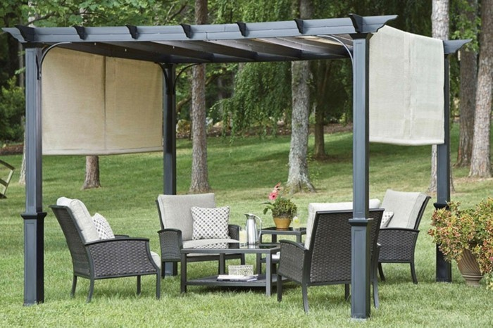 warum ist die pergola aus metall so toll. Black Bedroom Furniture Sets. Home Design Ideas