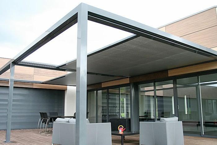 Coop Gartenmobel Sitzkissen : super gestaltung von terrasse  stahl pergola und moderne möbel