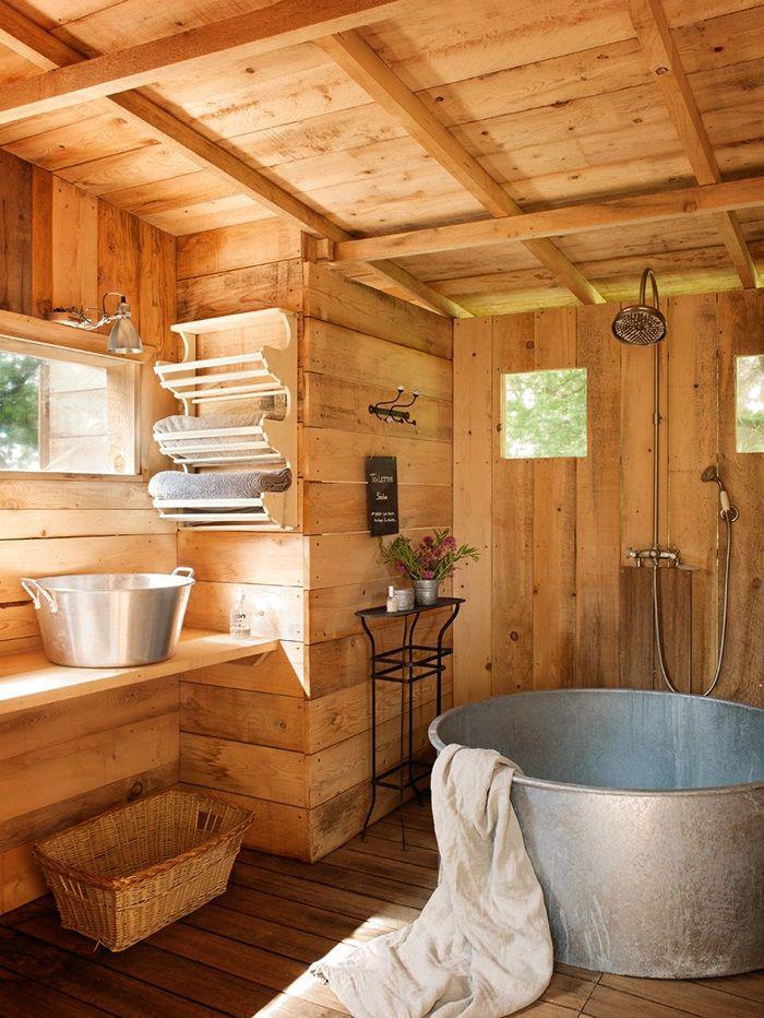 bad aus holz gestalten ? ideen für rustikale badeinrichtung ... - Rustikale Bder