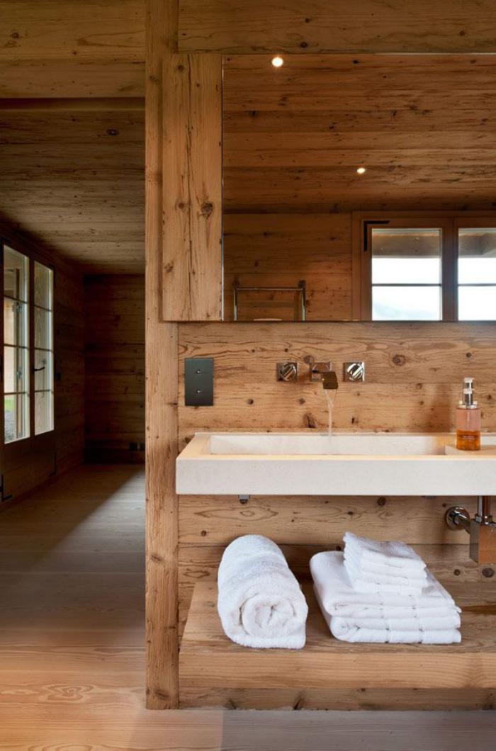 Ausgefallene designideen f r ein landhaus badezimmer for Piani di casa rustico lodge