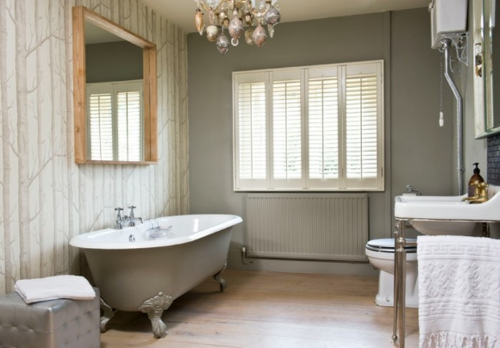 ausgefallene designideen für ein landhaus badezimmer - archzine.net - Kronleuchter Für Badezimmer