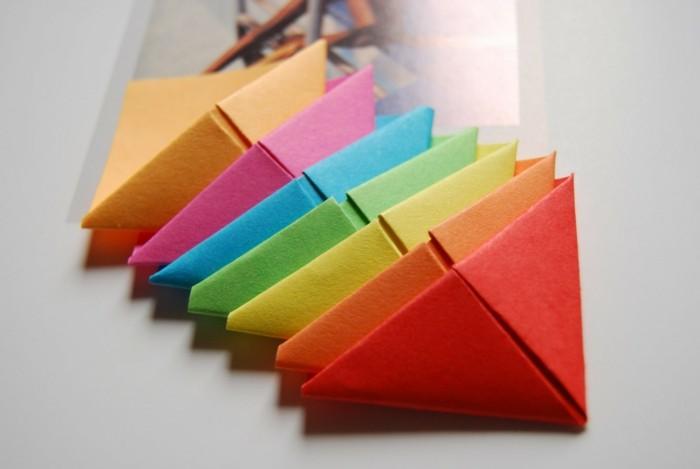 lesezeichen-selber-machen-origami-basteln-bunte-farben