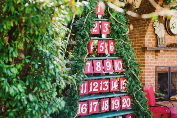 Decorate Ladder For Christmas Outdoors