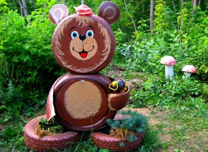 lustige-gartendeko-selber-machen-schöne-gestalt-von-bären