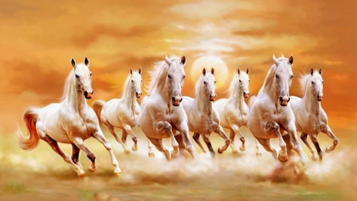 Seven Horse Canvas Painting