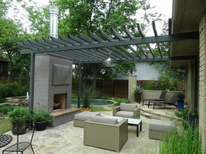 Warum ist die pergola aus metall so toll - Gartengestaltung pergola ...