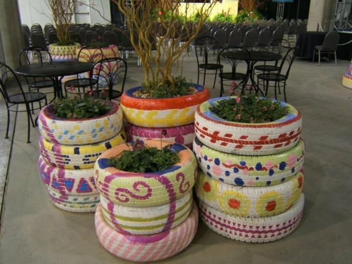 wunderschöne-altreifen-recycling-tolle-topfpflanzen
